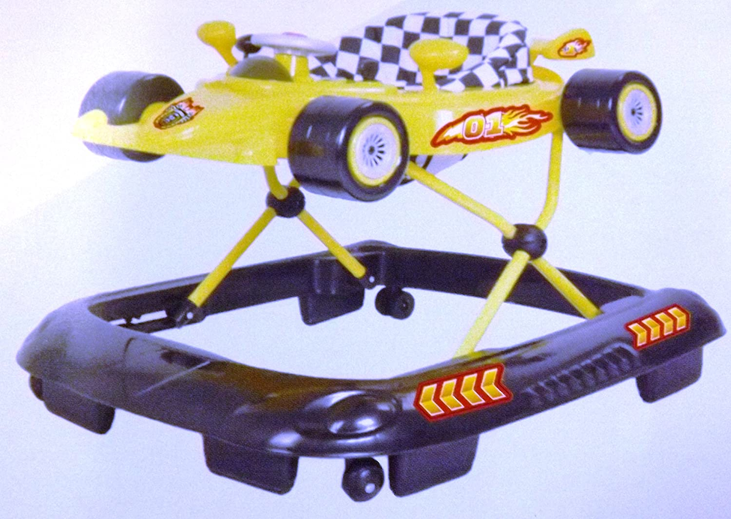 NEW RACING CAR WALKER ACTIVITY TOY / MUSICAL / FAST DELIVERY /RRP 69.99 YELLOW a b c