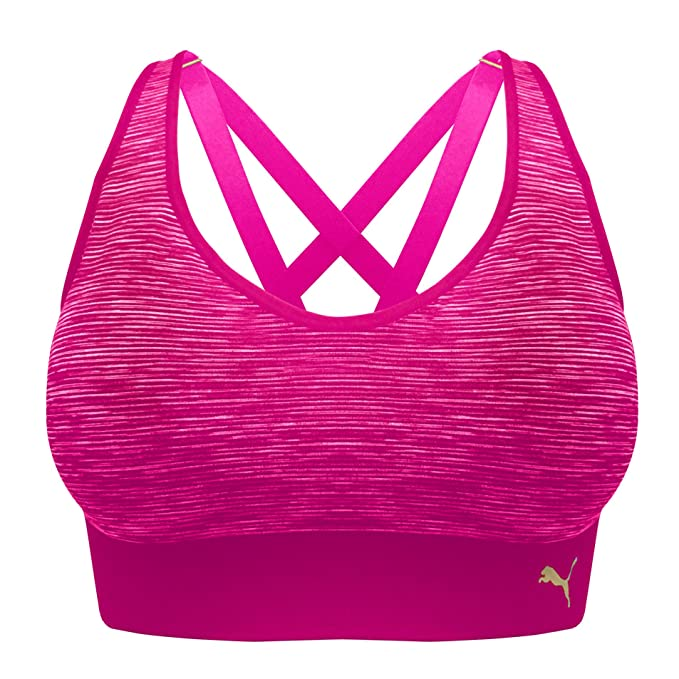 fa49d76d PUMA Sports Bra Seamless Strappy Back, Removable Cups, Tag Free (2 Pack)