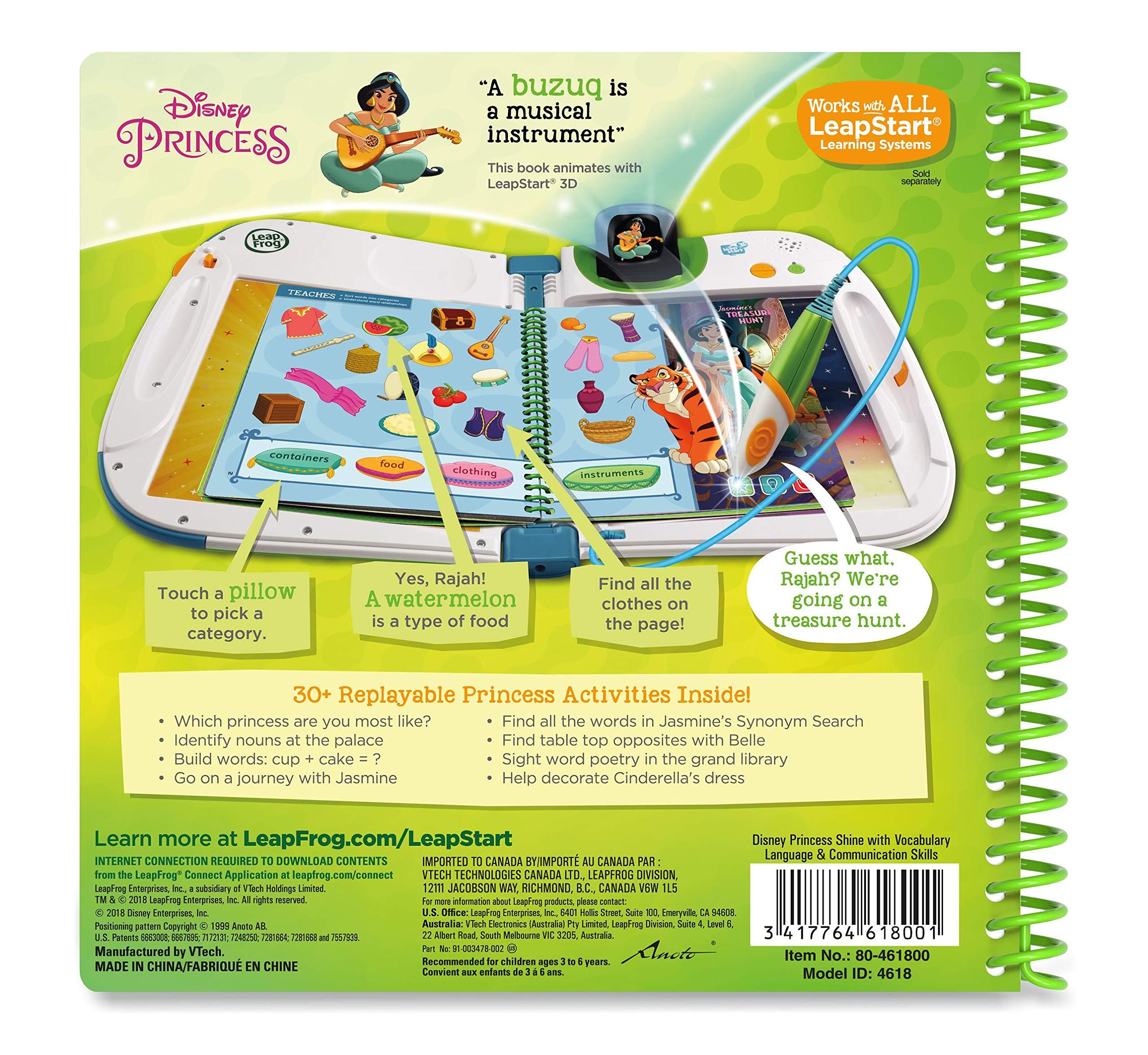 Leapstart Preschool: Disney Princess Shine with Vocabulary Activity Book (3D Enhanced) by LeapFrog (Image #2)