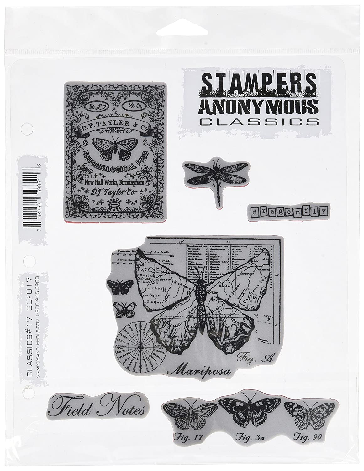 Stampers Anonymous Rubber Stamp Stamp Stamp Set 7 X8.5 -Classics  12 B00I3ODMD2 | Elegant und feierlich
