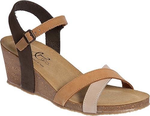 6e8b49c397377 Bos. & Co. Women's Lucca Wedge Sandal Multi Cognac Nubuck 36 M EU (
