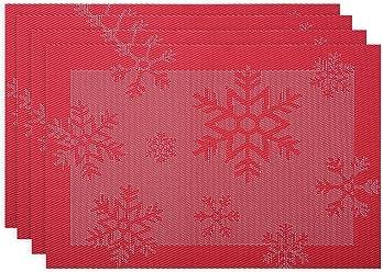 Sottopiatti Tovagliette di 4 Le Decorazioni Di Natale Per il Tavolo da  Pranzo Lavabile Antiscivolo Resistenti cd6f5de88215