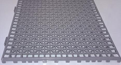 NOVINGRECONS Baldosa PP 30x30cm Gris (Paquete 24 ud.). Suelo Plastico. Suelo