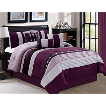 Amazon Com 7 Piece Oversize Eggplant Purple Black