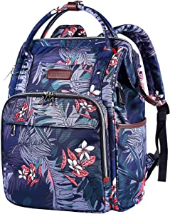 VANKEAN Laptop Backpack for Women 15.6 Inch Stylish School Computer Backpack Water Repellent College Casual Daypack with USB Port Travel Business Work