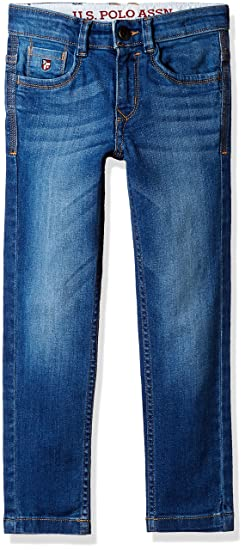 fcc8b345b9e85 US Polo Association Boys  Jeans (UKJN5317 Light Blue 24T 2-3 Years)