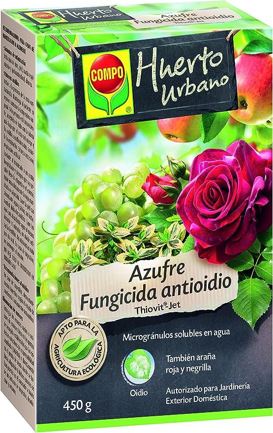 Comprar Compo Azufre fungicida anti oídio, Microgránulos solubles en agua, Para plantas ornamentales, arbustos y árboles, Apto para agricultura ecológica, 450 g