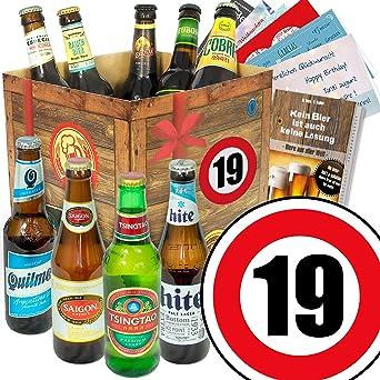 19 Geburtstag Geschenk Für Freund Bier Geschenkset Mit