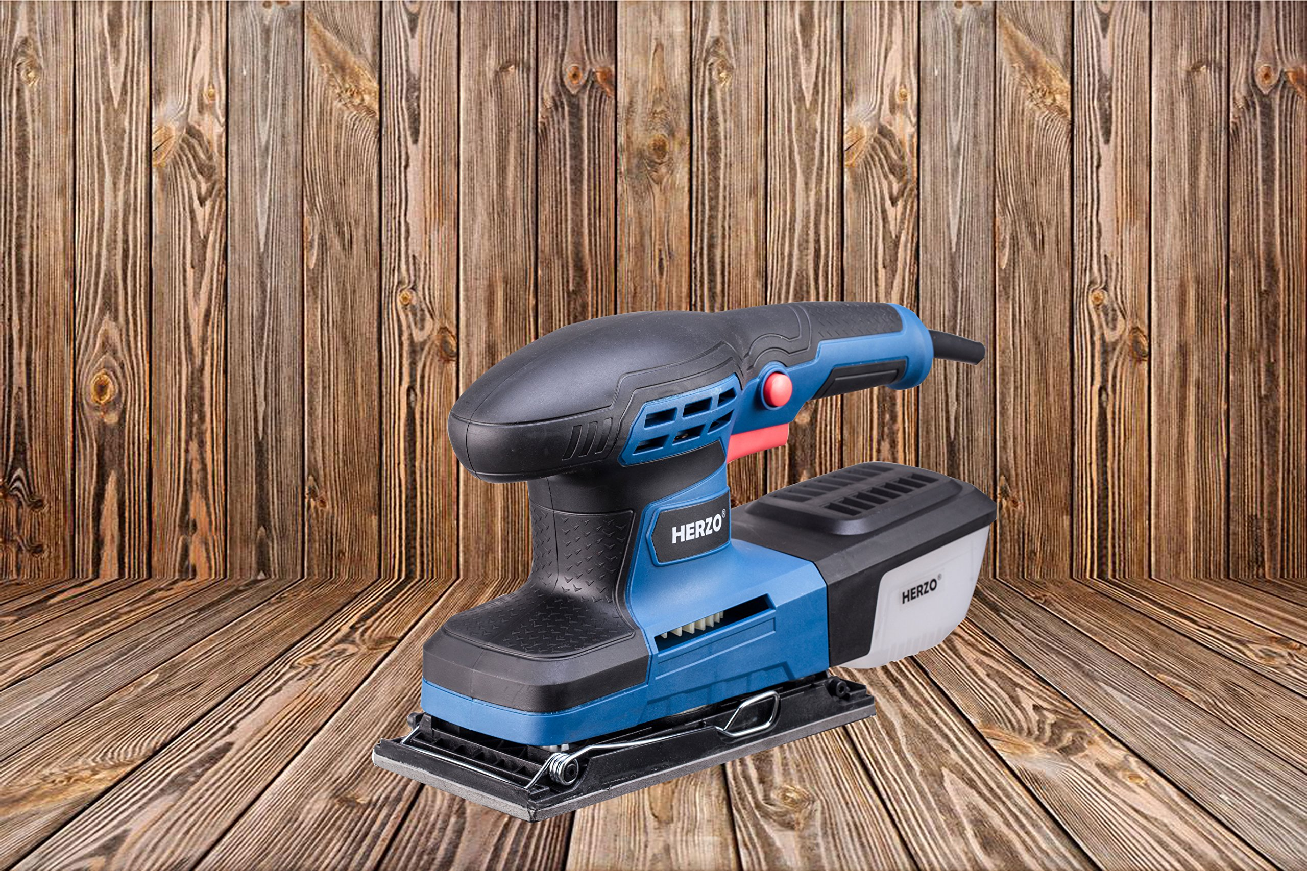 Sheet Sander HERZO 1/3 Finishing Sander with Self-Dust Collection Box, Hook-and-Loop Base Pad and 10 Pcs Sandpaper 2.2A by HERZO (Image #6)