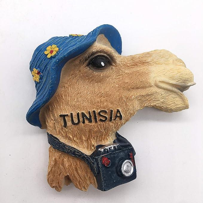 Weekinglo Souvenir Sombrero Camello Túnez Imán de Nevera Resina 3D ...