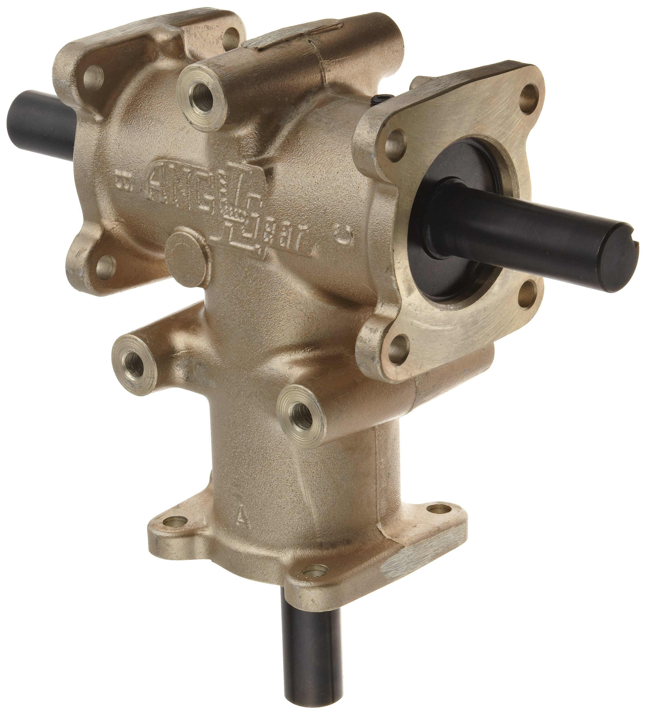 Andantex R3500 Anglgear Right Angle Bevel Gear Drive, Universal Mounting, Two Output Shafts, 3 Flange, Inch, 1'' Shaft Diameter, 1:1 Ratio, 7.04 HP at 1750rpm
