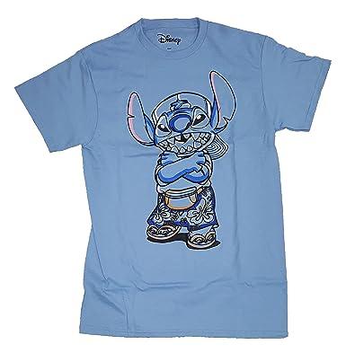 484efba33 Amazon.com: Disney Lilo & Stitch 90's Stitch Blue Graphic T-Shirt ...