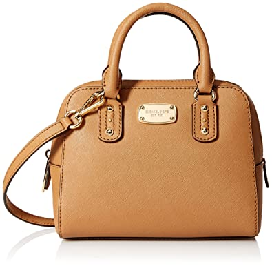 6f5d8d9bf3f7 Michael Kors Saffiano Leather MINI Satchel (Acorn)  Handbags  Amazon.com