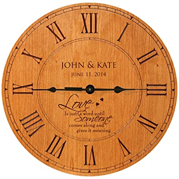 Personalized Wedding Gifts Modern Decorative Wall Clocks Housewarming  Anniversary Gifts For Couple 12u0026quot;x12u0026quot;