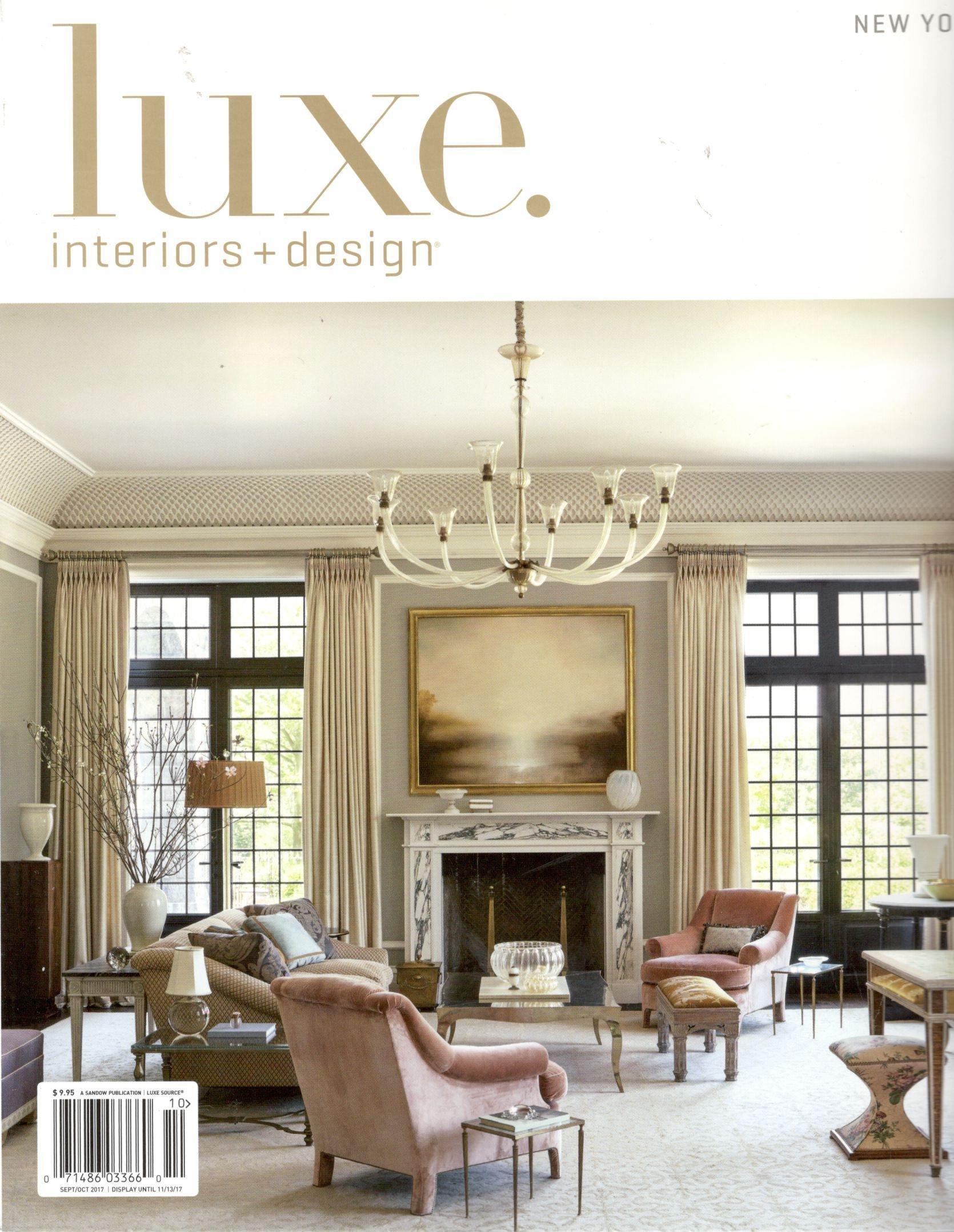 Luxe Interiors Design Magazine September October 2017 New York Edition 0764920177869 Amazon Com Books