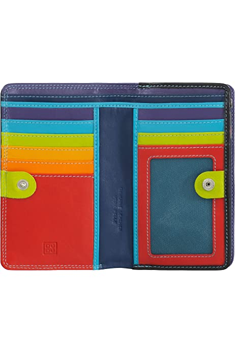 Fuxia Colorful Collection ~ Devon Womans multicolour leather model bag wallet with flap by DUDU