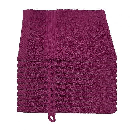 3 opinioni per Julie Julsen- Set di 10 asciugamani da bagno, 15 x 21 cm, morbidi e assorbenti,