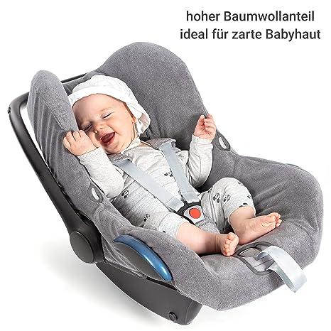 Zamboo Bezug Für Maxi Cosi Cabriofix Babyschale Sommerbezug Mit Perfekter Passform Für Autositz Cabrio Fix Atmungsaktiv Gegen Schwitzen Maschinenwaschbar Grau Cool Dry Baby