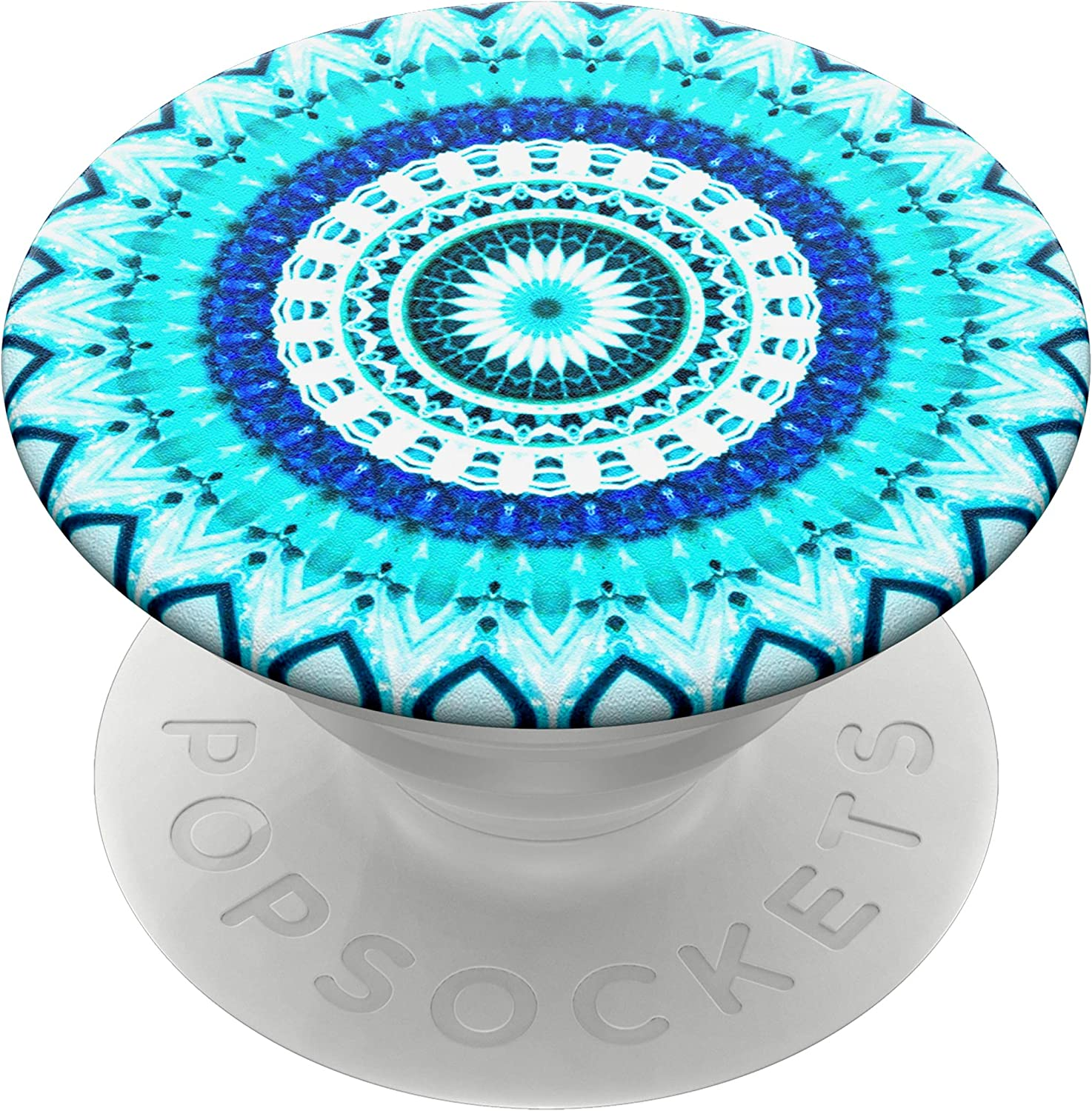 PopSockets: PopGrip with Swappable Top for Phones and Tablets - Blue Floral Mandala