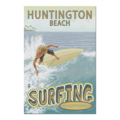 Huntington Beach, California - Surfer Tropical (Premium 1000 Piece Jigsaw Puzzle for Adults, 20x30, Made in USA!): Toys & Games