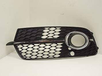 Audi Q5 S Line NS izquierda cromo parrilla luces antiniebla Bisel nuevo Genuine: Amazon.es: Coche y moto