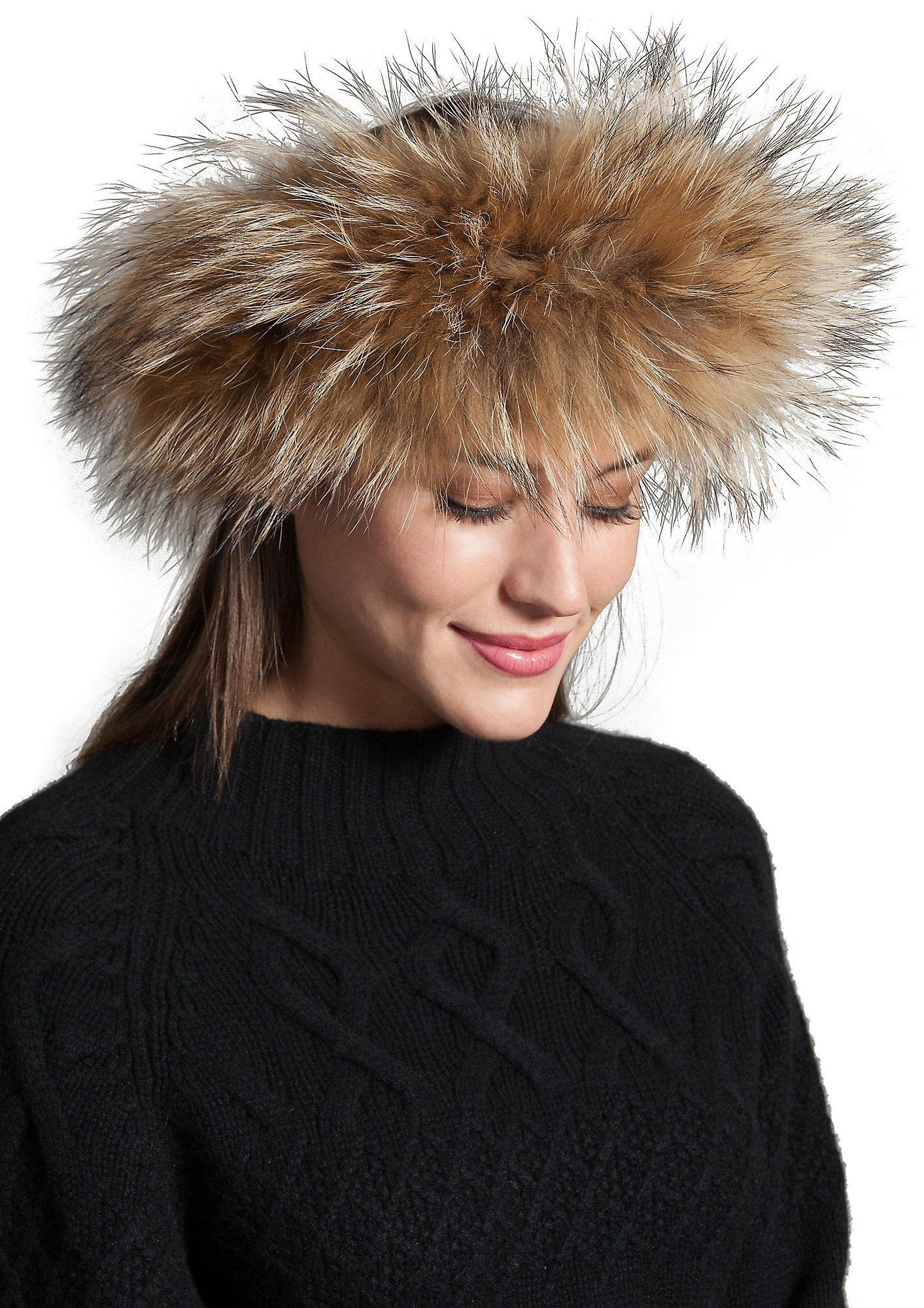 Finn Raccoon Fur Headband by Overland Sheepskin Co