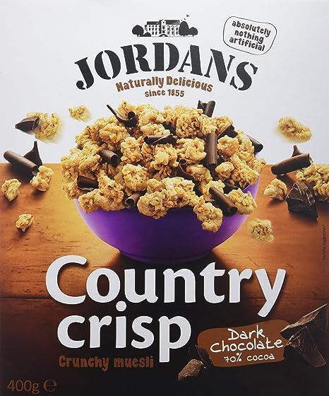 Jordans - Country crisp - Bolitas de cereales crujientes con rizos de chocolate negro - 400 g - [Pack de 3]