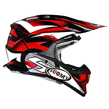 Suomy Alpha Bike Casco para Motocross, Rojo, XS