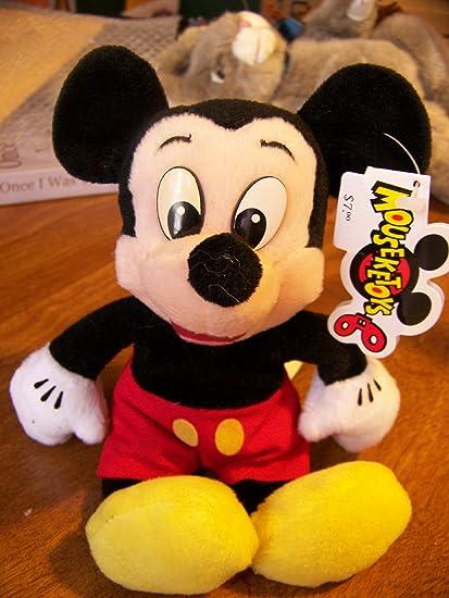 Amazon Com 8 Disney World Mickey Mouse Bean Bag Plush Disney