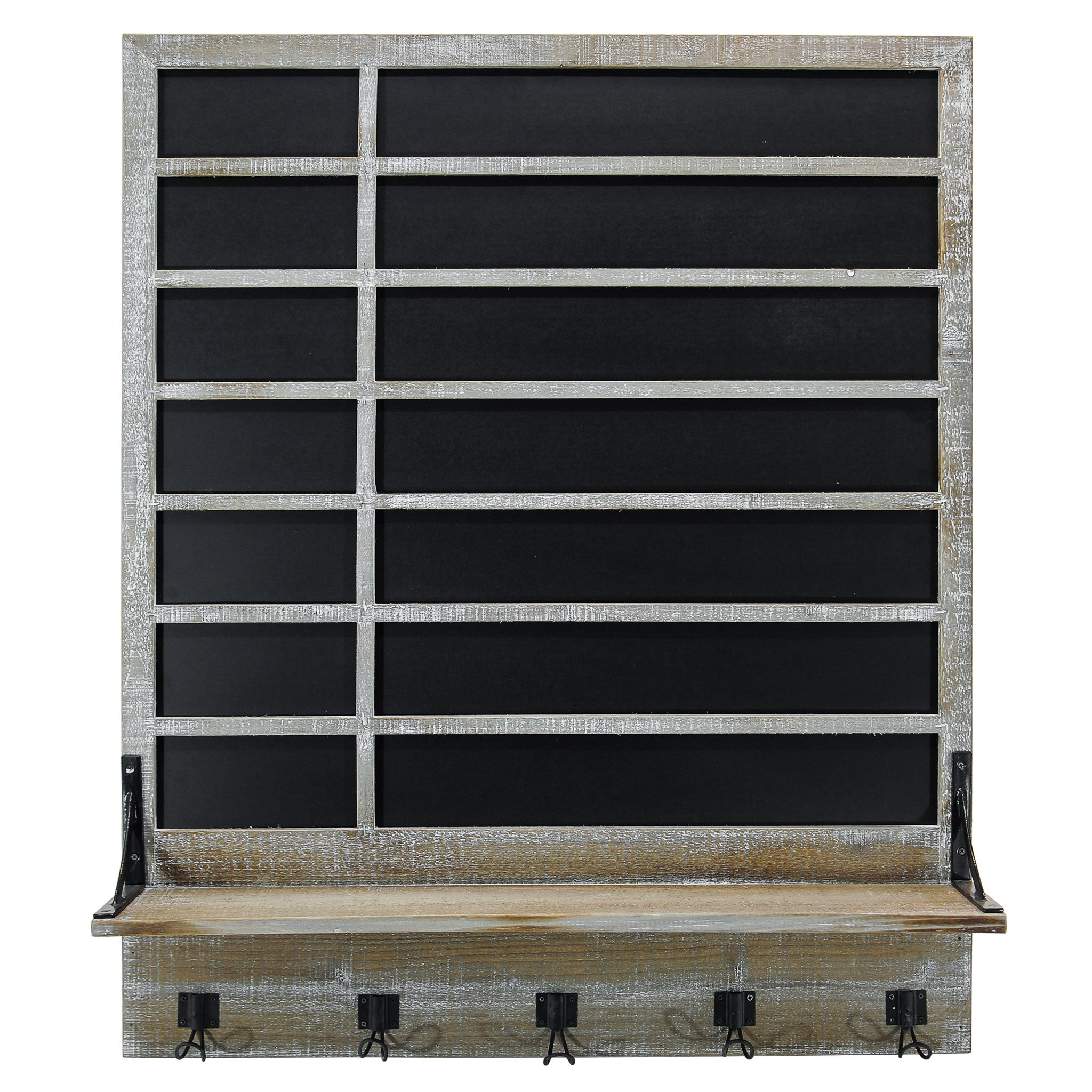 Farmhouse Wood Chalkboard with Shelf