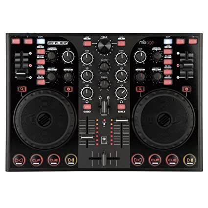 Reloop Mixage IE Compact Traktor DJ Controller for Beginners, Black  (MIXAGE-IE)