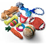 Dog Toys and Puppy Toys - 11 Piece Value Dog Toy Variety Pack with Dog Chew Toys and Teething Toys