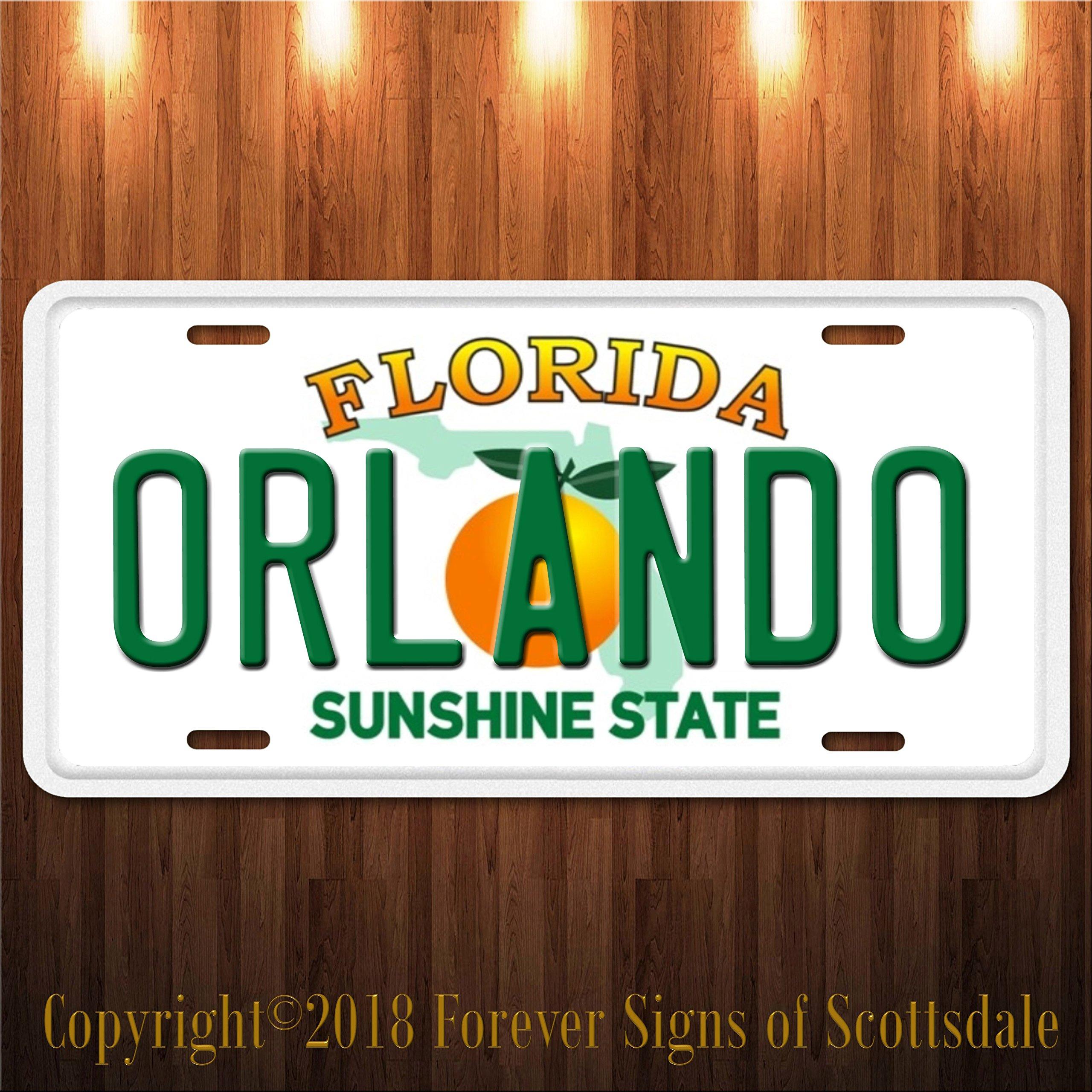 Orlando Florida City/College State University Aluminum Vanity License Plate