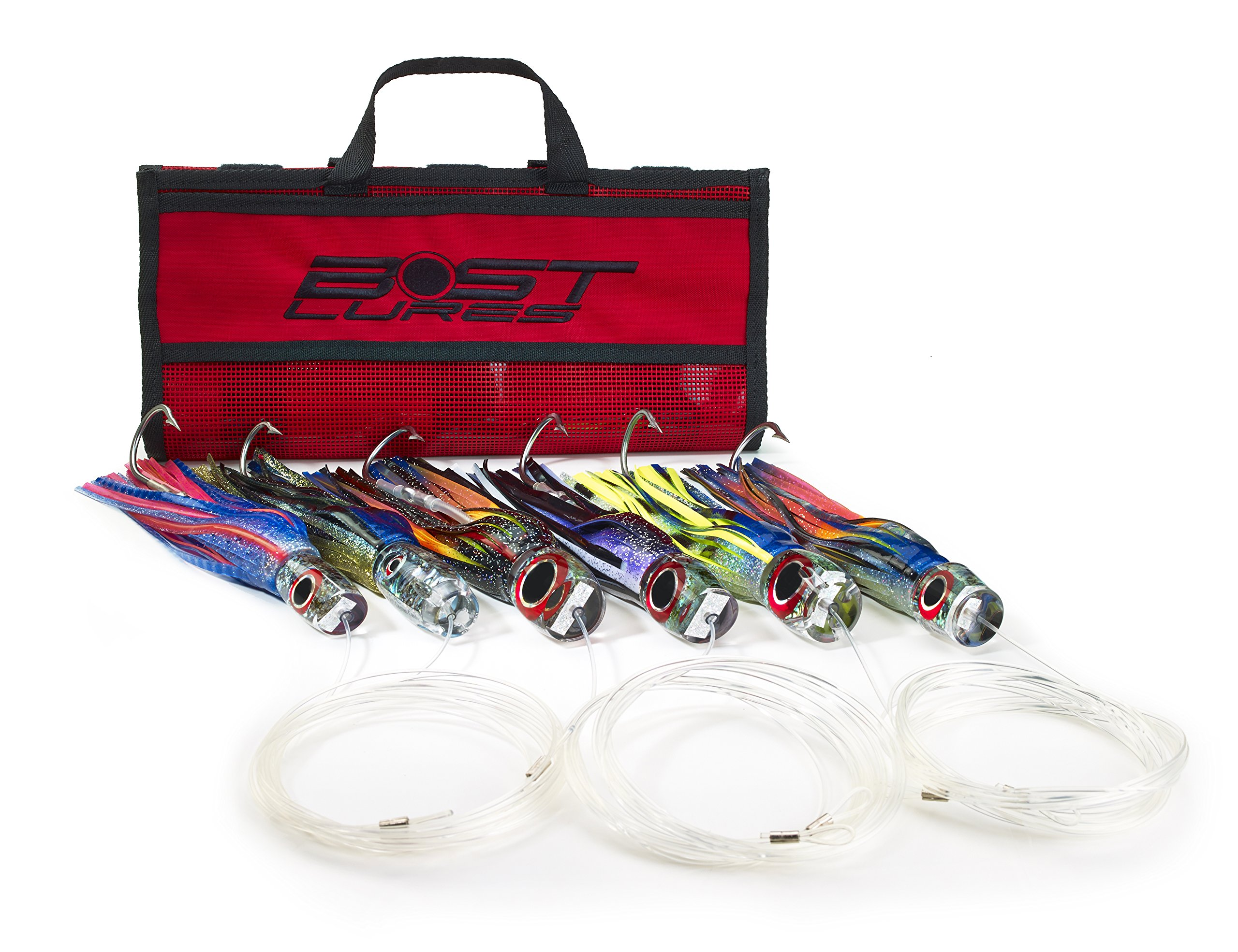 Marlin Lure Trolling Pack by Bost - Rigged w/Double Hooks by Bost Lures
