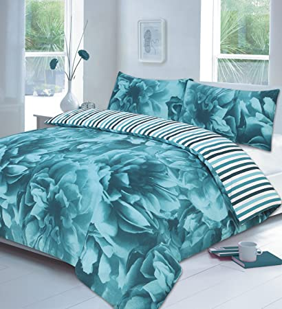 Duvet Set With Pillow Case Quilt Cover Bedding Single Double King