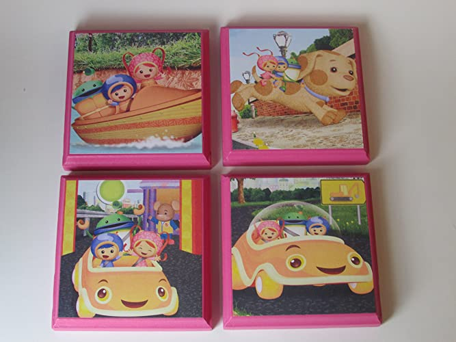Team Umizoomi Room Wall Plaques   Set Of 4   Girls Room Decor   Wall Signs