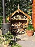 Log Store - Decorative  Garden Storage, Hand Made In Britain, Pressure Treated, Heavy Duty