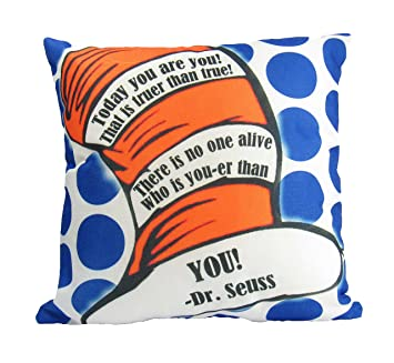 Amazoncom Uniikstuff Today You Are You Pillow Cover Dr Seuss