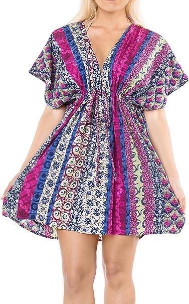TALLA L-XXL. LA LEELA algodón Bikini Cubierta Impresa de Las Mujeres hasta ncm084