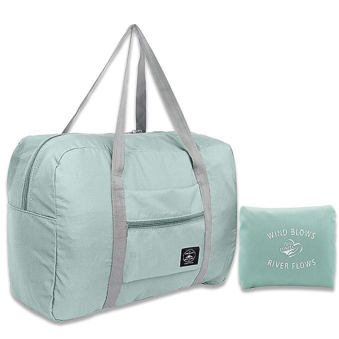 FUNFEL Travel Foldable Duffel Bag for Women