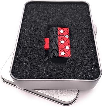 Onwomania Bolso de PVC Rojo Punteado Memoria USB Stick en Caja de Regalo de ALU 16 GB USB 2.0: Amazon.es: Electrónica