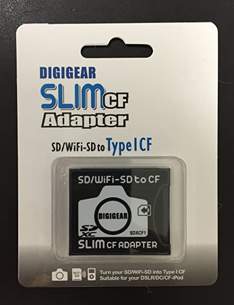 Digigear Slim CF Adaptador: SD SDHC SDXC wifi-sd Eyefi a ...