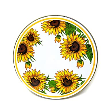 Electric Stove Burner Range Covers Decorative Set of 4 (Sunflowers)