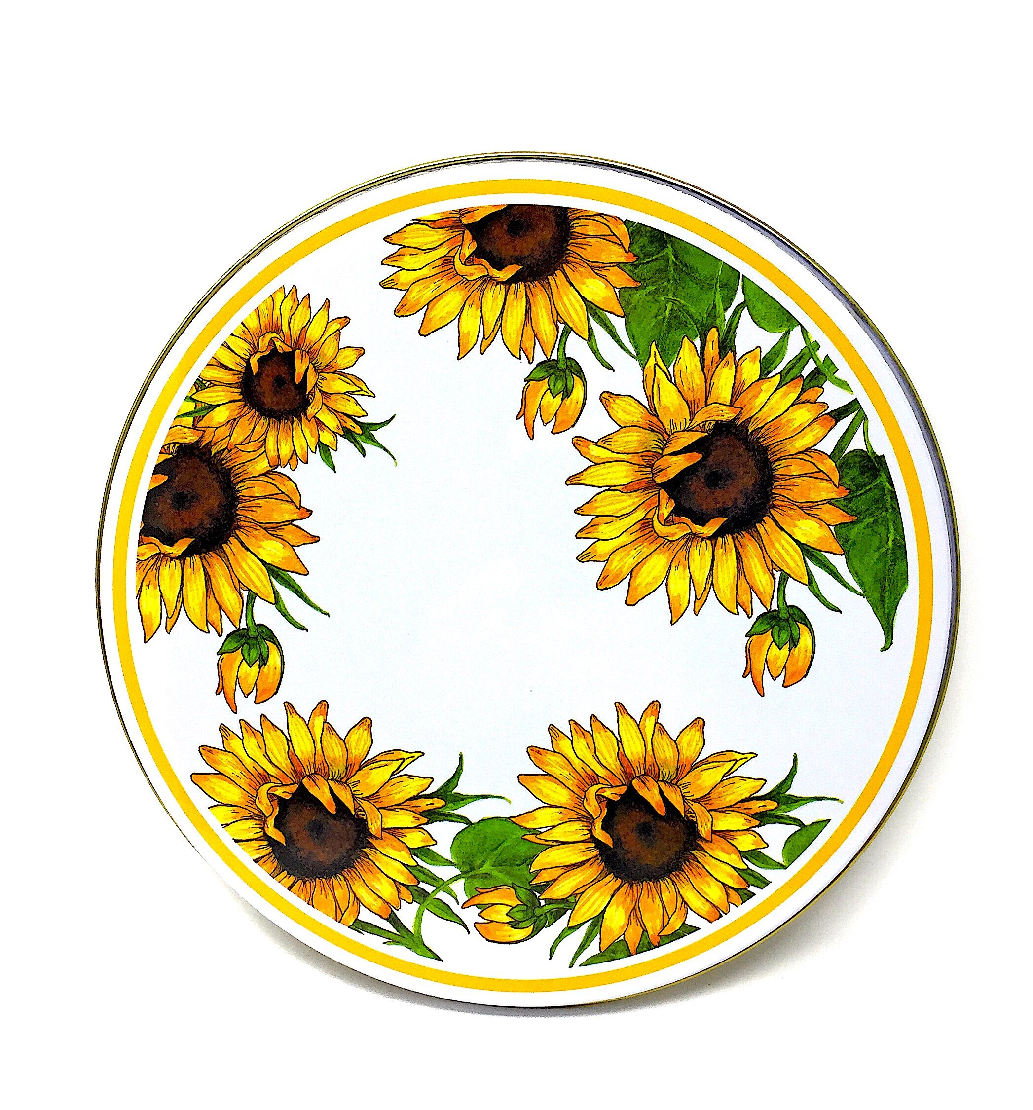 Electric Stove Burner Range Covers Decorative Set of 4 (Sunflowers)