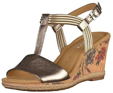 Damenschuhe Sandaletten 62 Große Gabor 828 In Braun Übergrößen 64 wm80vNnO