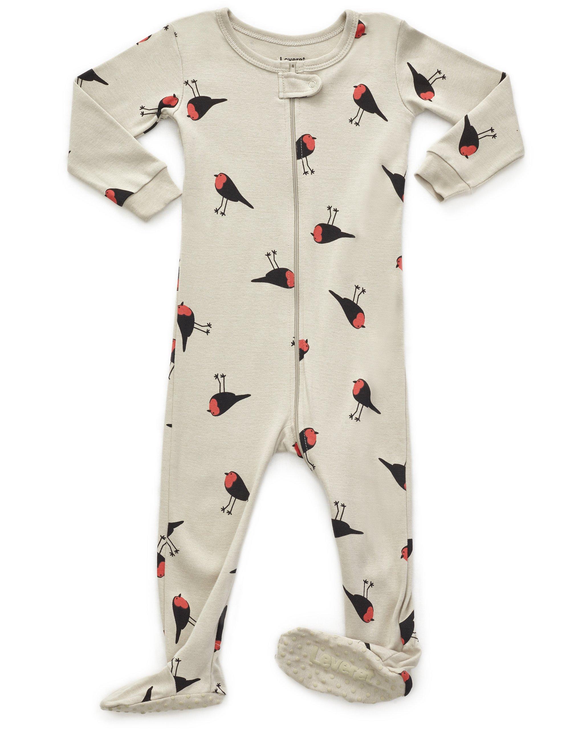 Leveret Birds Footed Sleeper Pajama 100% Cotton