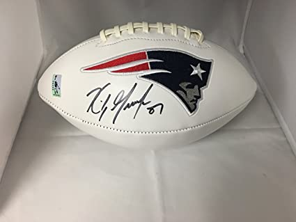 new arrival 3cd8d 4fee0 Rob Gronkowski Autographed Signed New England Patriots Logo ...