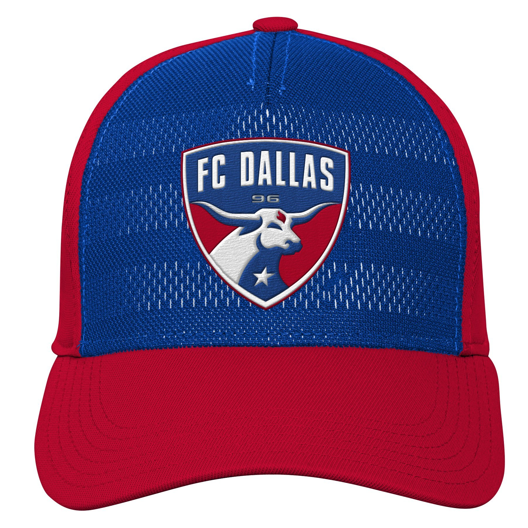 MLS FC Dallas Youth Boys Authentic Structured Flex, 1 Size, Dark Red