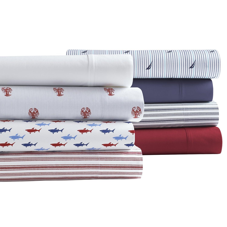 Twin Blue Revman International 221672 Nautica Somersby Cotton Percale Sheet Set