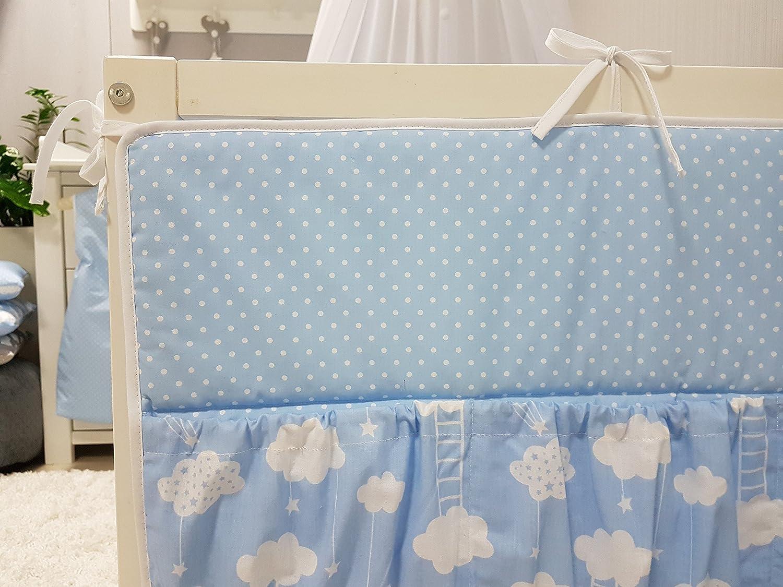 Aufbewahrung f/ürs Kinderbett 60cm BiG Dream grau Utensilio Baby Betttasche f/ür Baby Bett Wandaufbewahrung